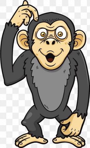 Monkey - Chimpanzee Ape Primate Clip Art PNG