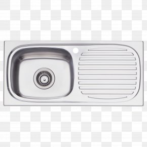 Top View Furniture Kitchen Sink - Sink Bowl Tap Stainless Steel PNG