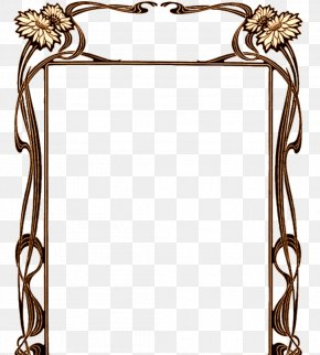 Brown Frame - Borders And Frames Art Nouveau Art Deco PNG