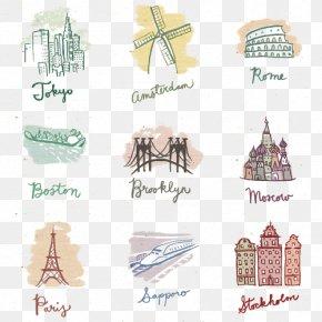 States Painted Flag - Paris Stockholm Travel Location Globe PNG