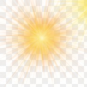 Yellow Light Effect Of Car Light - Sunlight Sky Yellow Pattern PNG
