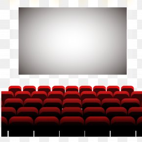 The Big Screen Under The Seat Of The Vector Material - Cinema Auditorium Seat PNG