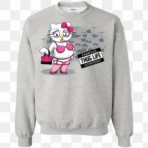 Thug Life - T-shirt Hoodie Sweater Gildan Activewear PNG