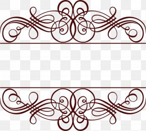 Coffee Line Lace - Picture Frame Gold PNG