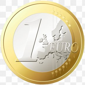 One Euro Transparent Clip Art - Coin Graphics Clip Art PNG