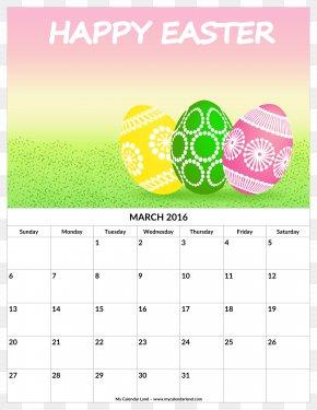 Monthly Calendar - Easter Egg Wish Christmas Egg Decorating PNG