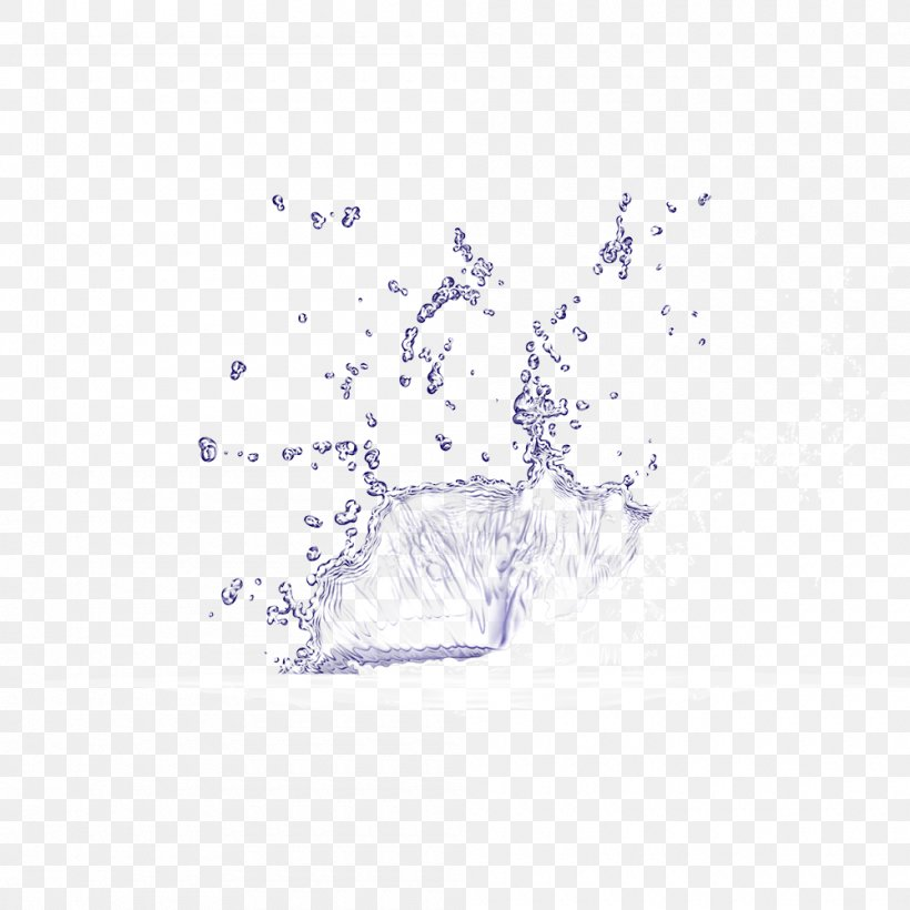 Splash Water, PNG, 1000x1000px, Water, Area, Distilled Water, Drop, Layers Download Free