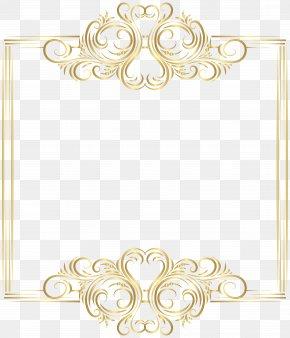 Gold Border Frame Clip Art - Gold Clip Art PNG