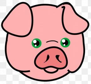 Pig Head Cliparts - Domestic Pig Face Drawing Clip Art PNG