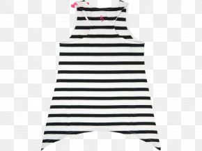 Black And White Stripe - Dress Line Black M PNG