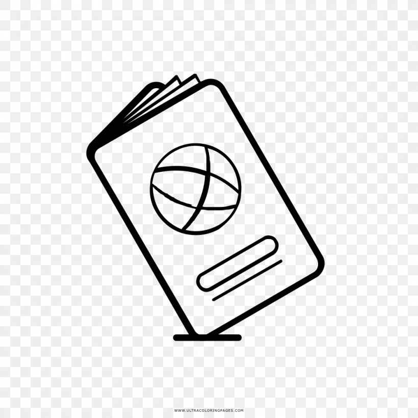 Drawing Coloring Book Passport Sketch Png 1000x1000px