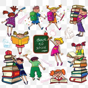 School Children - Student School Cartoon Drawing PNG