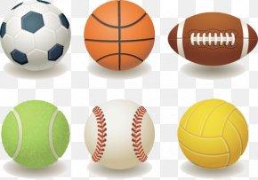 Six Ultra-realistic Ball - Ball Sport Cartoon Clip Art PNG