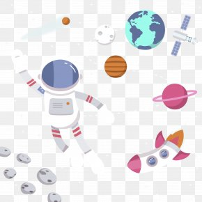 Astronauts In Space - Astronaut Spacecraft Illustration PNG