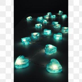 String Lights - Light Cobalt Blue Turquoise Aqua PNG