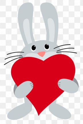 Bunny With Heart PNG Picture - Rabbit It's Happy Bunny Clip Art PNG