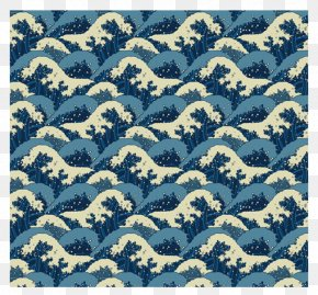 Kanagawa Wave Pattern Background Decoration - The Great Wave Off Kanagawa Japan Wind Wave Pattern PNG