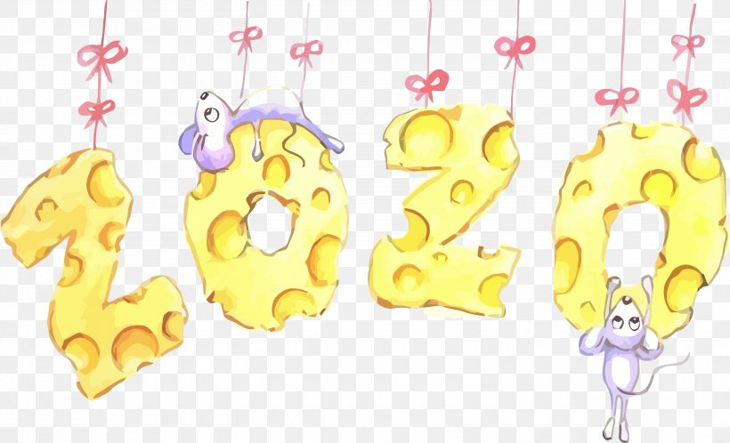Happy New Year 2020 Happy 2020 2020, PNG, 3000x1824px, 2020, Happy New Year 2020, Happy 2020, Text, Yellow Download Free