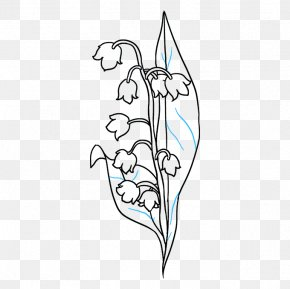 Iris Lily Of The Valley - Lily Flower Cartoon PNG