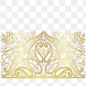 Visual Arts Rectangle - Yellow Pattern Ornament Rectangle Visual Arts PNG