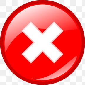 Red Cross Mark File - Error HTTP 404 Icon PNG