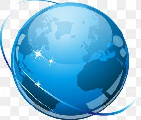 Internet Security Earth - Internet Clip Art PNG