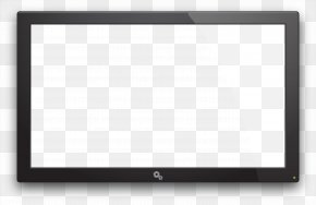 Old TV Image - Square Area Black And White Pattern PNG
