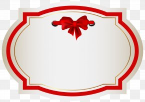 Label With Bow Clip Art Image - Clip Art PNG