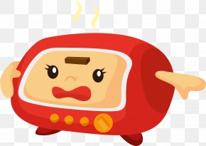 Microwave Cartoon - Home Appliance Small Appliance Cartoon Microwave Oven Electricity PNG