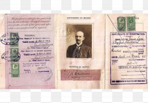 United Kingdom - 1920s British Passport United Kingdom Nansen Passport PNG