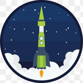 Green Spaceship - Spacecraft Rocket Space Capsule PNG
