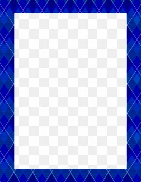 Blue Border Frame Pic - Square Area Blue Pattern PNG