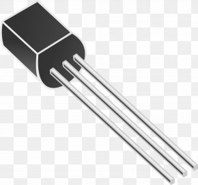 Electronic Component - Transistor TO-92 NPN Electronic Component Clip Art PNG
