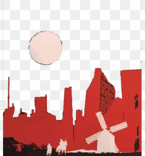 Red Building Silhouette - Don Quixote Film Director Television Director Poster PNG
