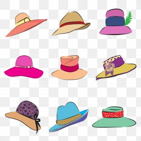 Color Cartoon Hat Pictures - The Kentucky Derby Bowler Hat Royalty-free Clip Art PNG