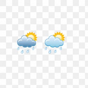 Weather Symbols,Cloudy With Light Rain - Weather Forecasting Rain Cloud Hail PNG