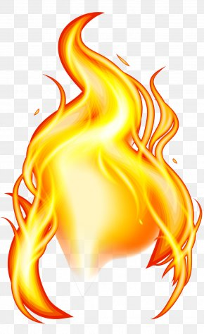 Yellow Flame Effect Element PNG