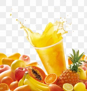 Drink - Orange Juice Apple Juice Fruit Drink PNG
