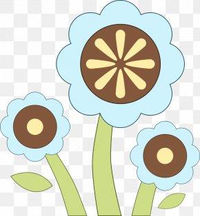Blue Flower Clip - Flower Clip Art PNG