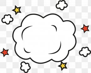 White Cloud Explosion Sticker - Explosion Icon PNG