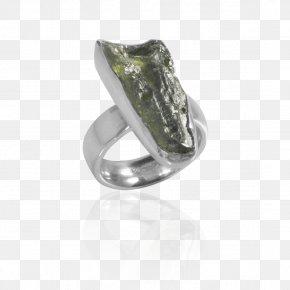 Silver Ring - Jewellery Ring Gemstone Moldavite Silver PNG