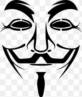 Mask - Guy Fawkes Mask Gunpowder Plot V Clip Art PNG