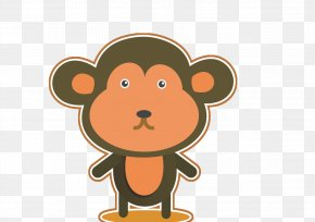 Cute Monkey - Cartoon Monkey Clip Art PNG