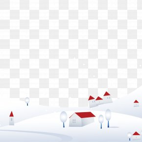 Snow Trees Village Picture Material - Snow Tree Download PNG