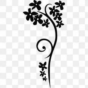 Flower Black And White - Black And White Clip Art PNG