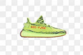 Adidas - Adidas Yeezy Sneakers Red Blue PNG