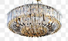 Crystal Light - Chandelier Light Crystal Lamp PNG