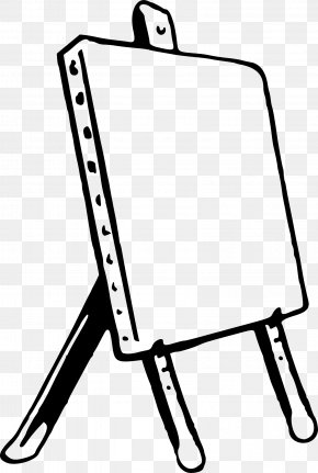 Painting - Easel Drawing Painting Clip Art PNG