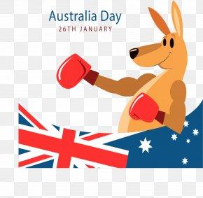 Australian Boxer Kangaroo Poster - Australia Day Kangaroo PNG