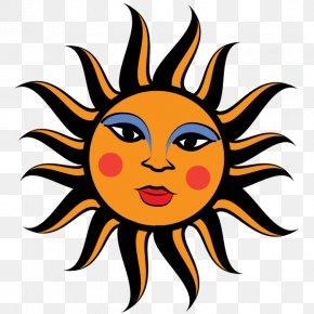 Vector Sun Face - Face Sun Smiley Clip Art PNG